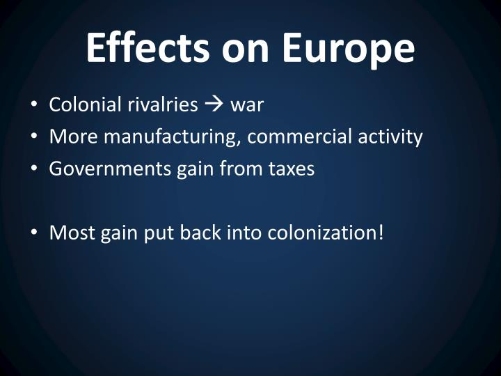 Effects on Europe