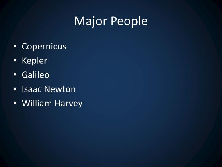 Major People