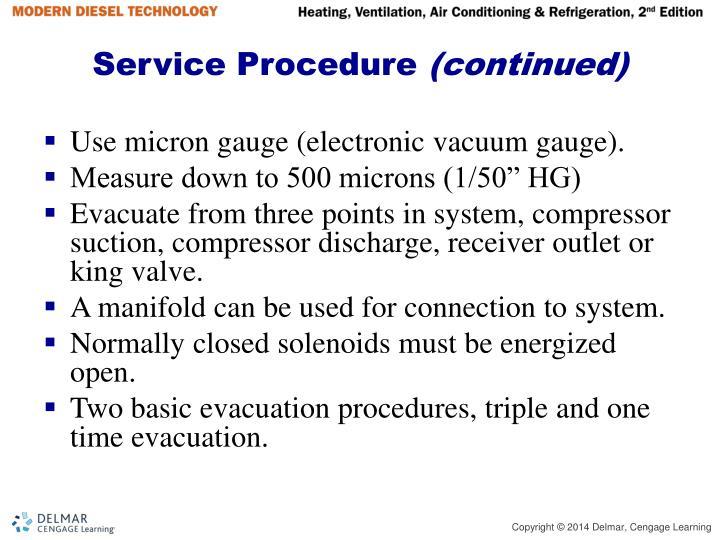 Service Procedure
