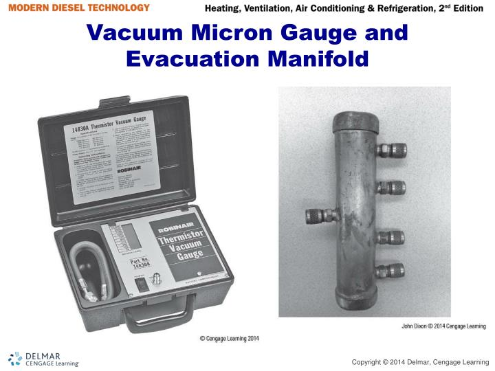 Vacuum Micron Gauge and Evacuation Manifold