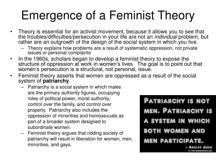 Emergence of a Feminist Theory