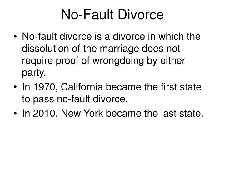 No-Fault Divorce