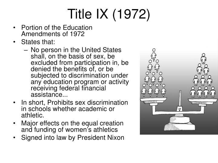 Title IX (1972)