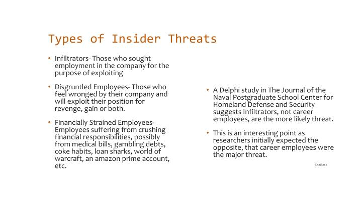 Types of Insider Threats