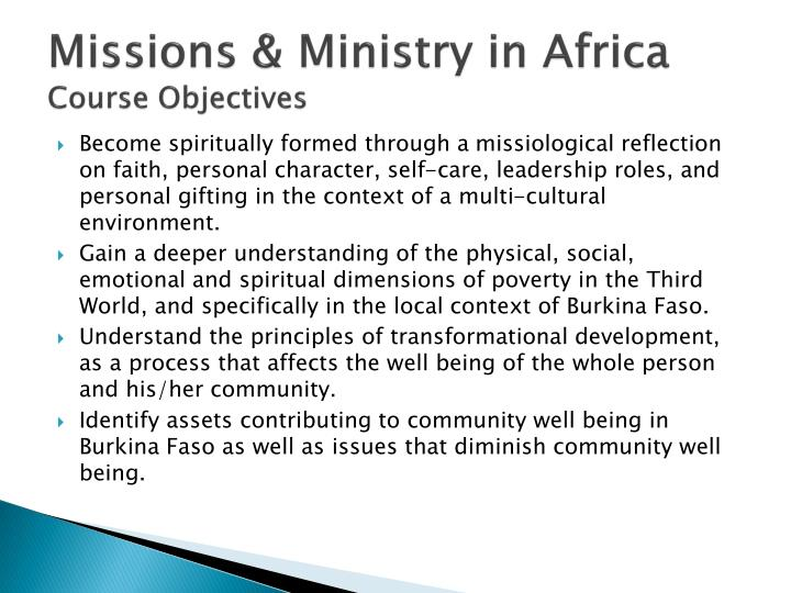 Missions & Ministry in Africa