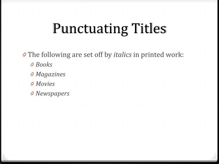 Punctuating titles2