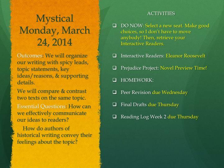 Mystical Monday