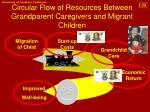 circular flow of resources between grandparent caregivers and migrant children
