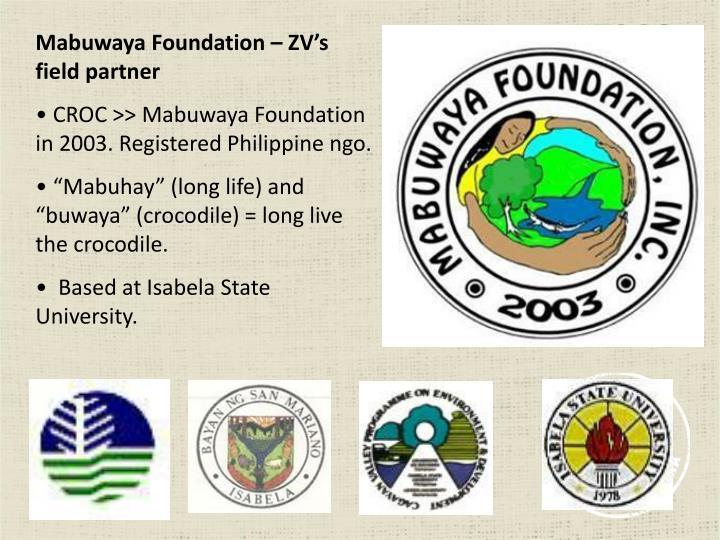 Mabuwaya Foundation – ZV's field partner