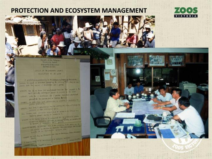 PROTECTION AND ECOSYSTEM MANAGEMENT