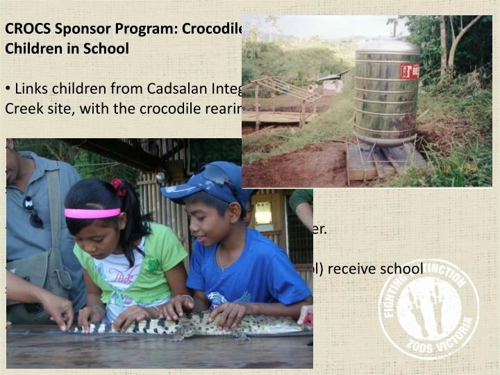 CROCS Sponsor Program: