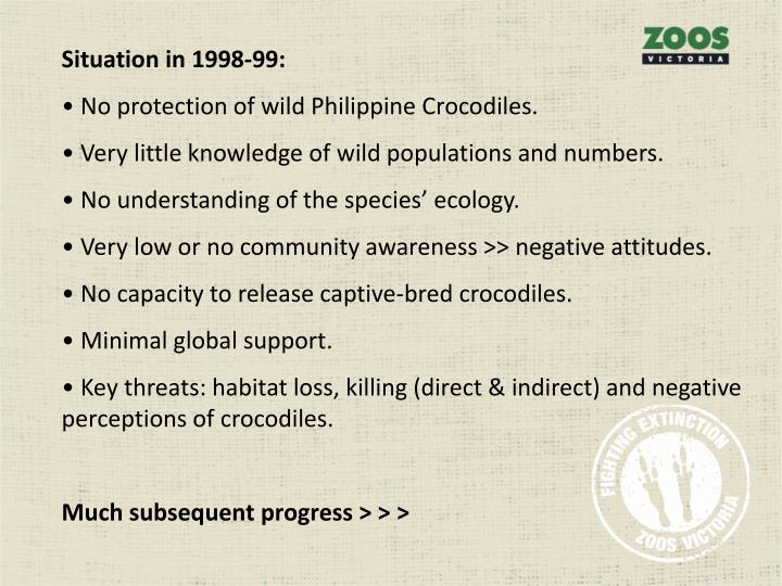 Situation in 1998-99: