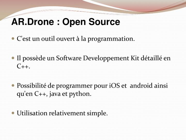Ar drone open source