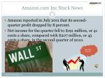 amazon com inc stock news