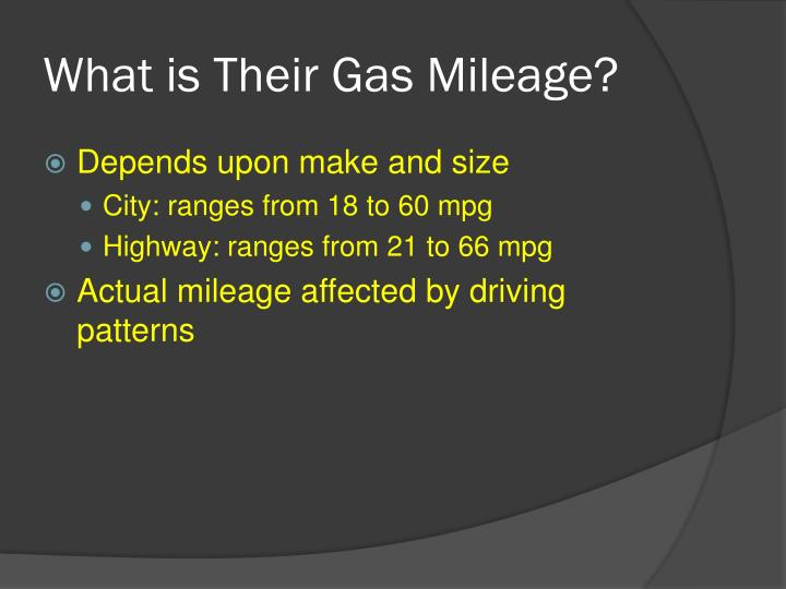 What is Their Gas Mileage?