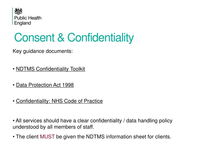 Consent & Confidentiality