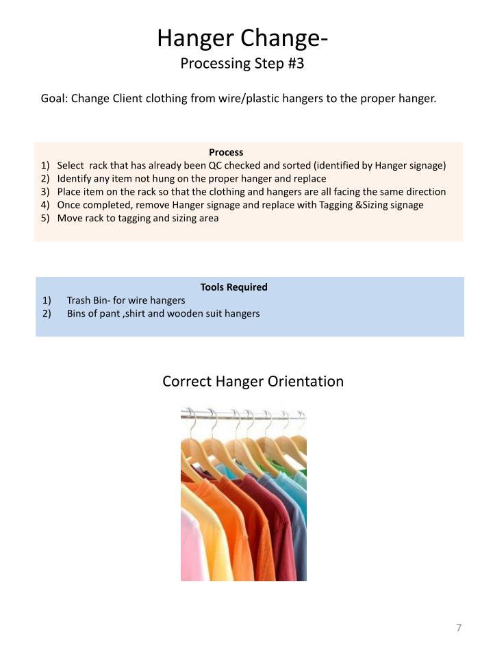 Hanger Change-