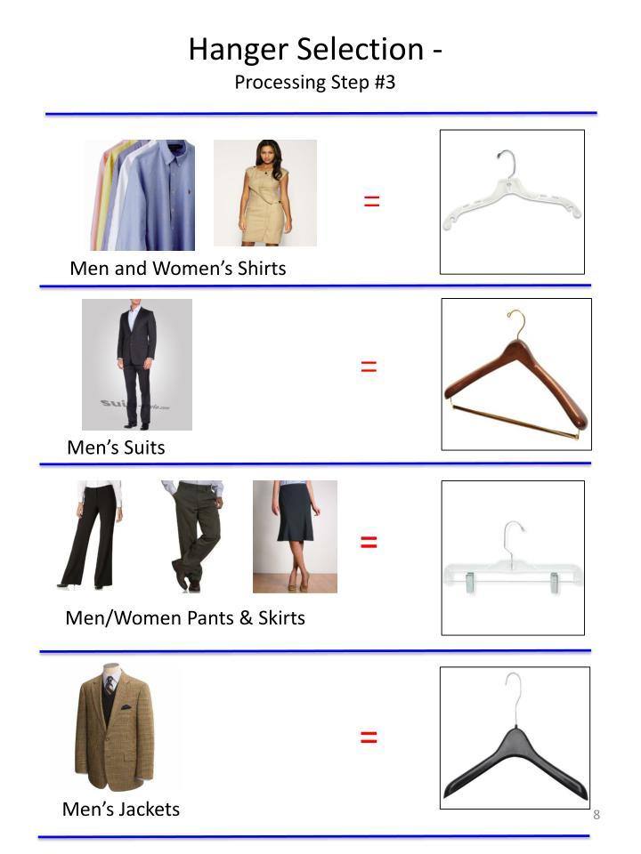 Hanger Selection -