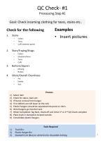 qc check 1 processing step 1