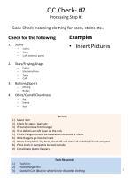qc check 2 processing step 1