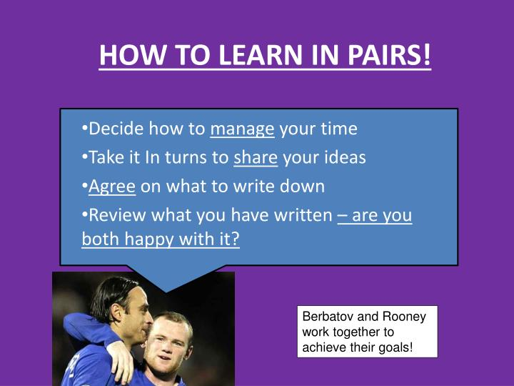 HOW TO LEARN IN PAIRS!