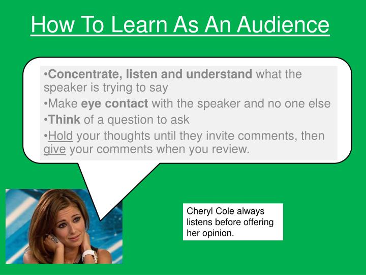 How To Learn As An Audience