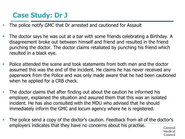 Case Study: Dr J