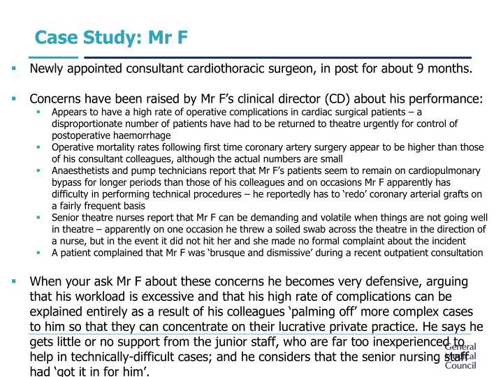 Case Study: Mr F