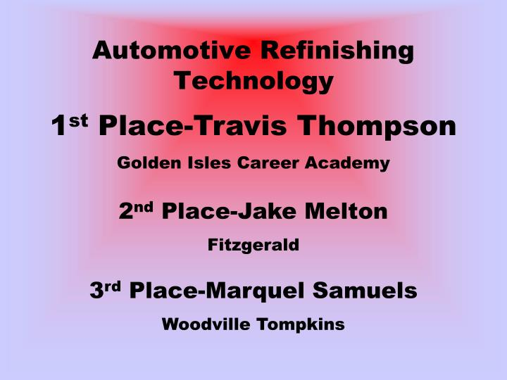 Automotive Refinishing Technology