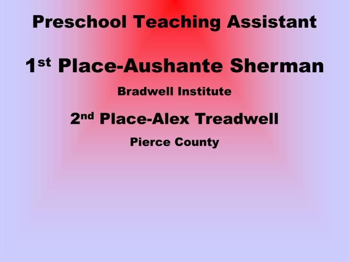 Preschool Teaching Assistant