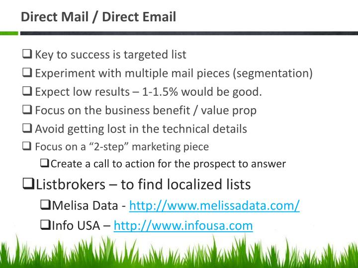 Direct Mail / Direct Email
