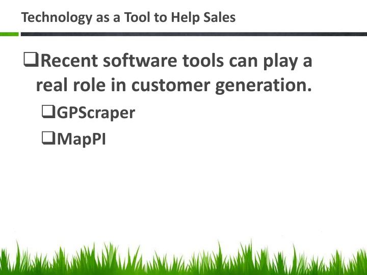 Technology as a Tool to Help Sales