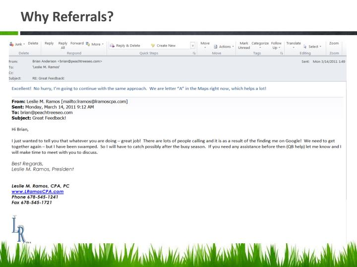 Why Referrals?