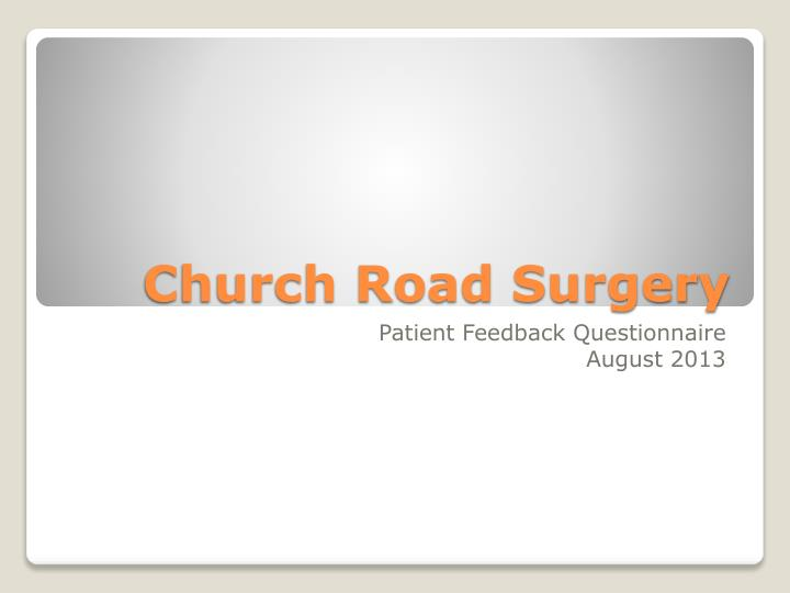 Church road surgery
