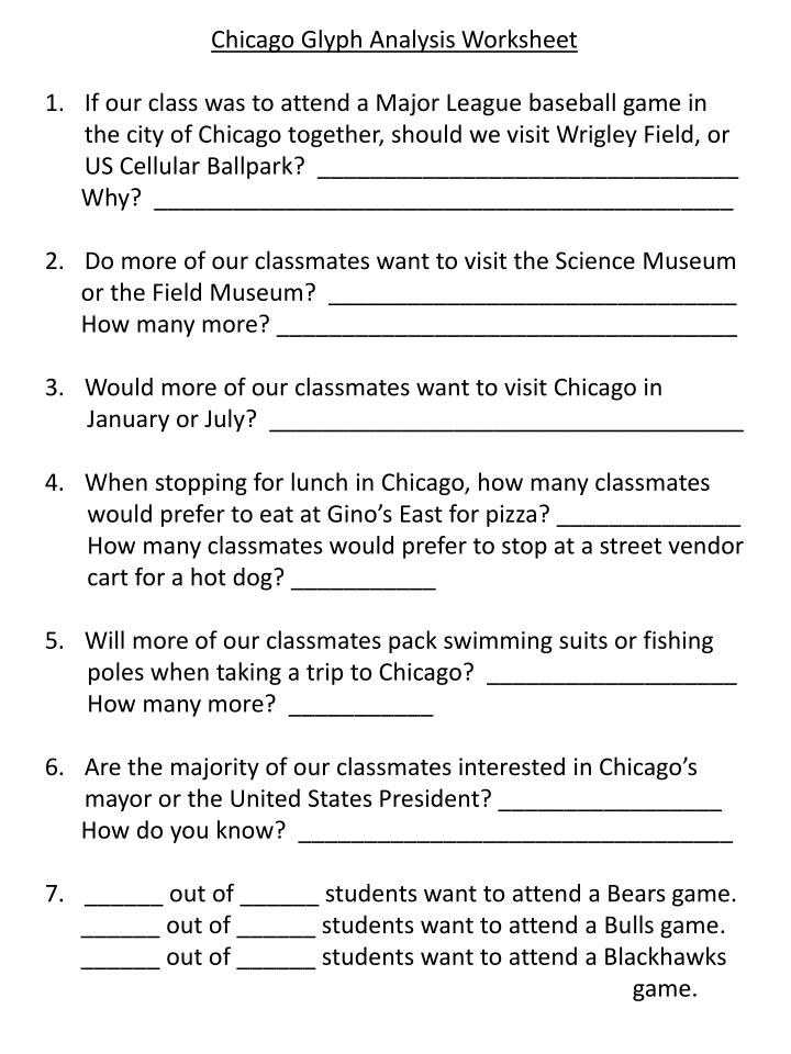 Chicago Glyph Analysis Worksheet
