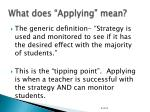 what does applying mean