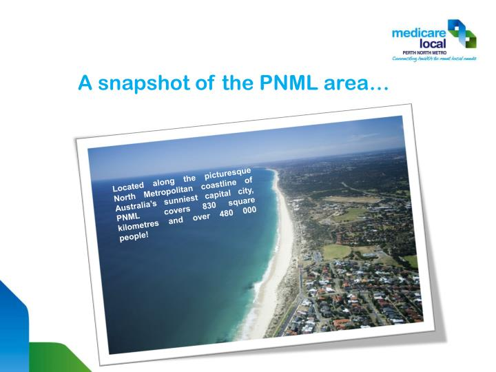 A snapshot of the pnml area