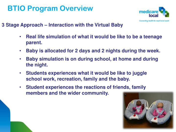 3 Stage Approach – Interaction with the Virtual Baby