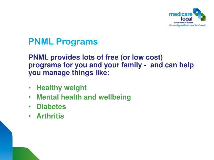PNML Programs