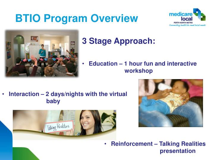BTIO Program Overview