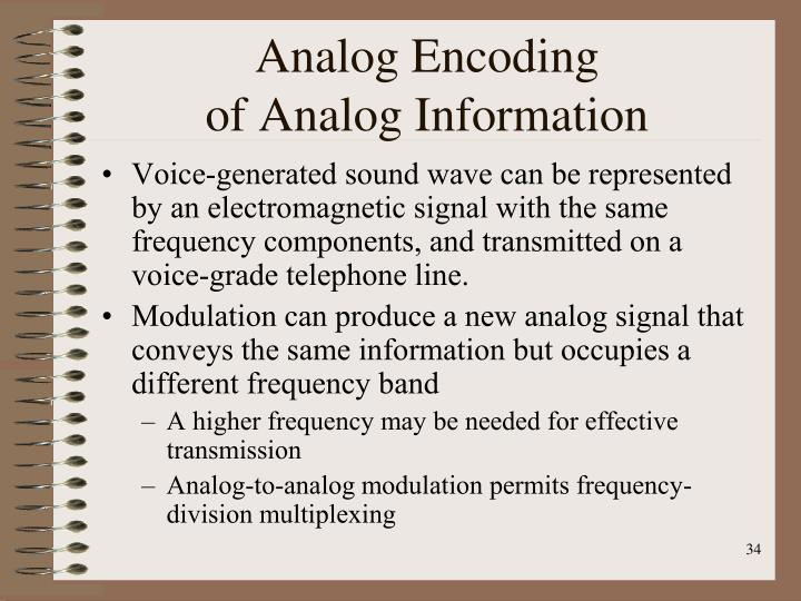 Analog Encoding