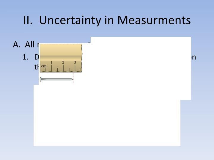II.  Uncertainty in
