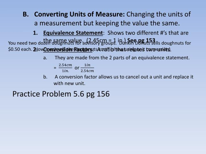 Converting Units of Measure: