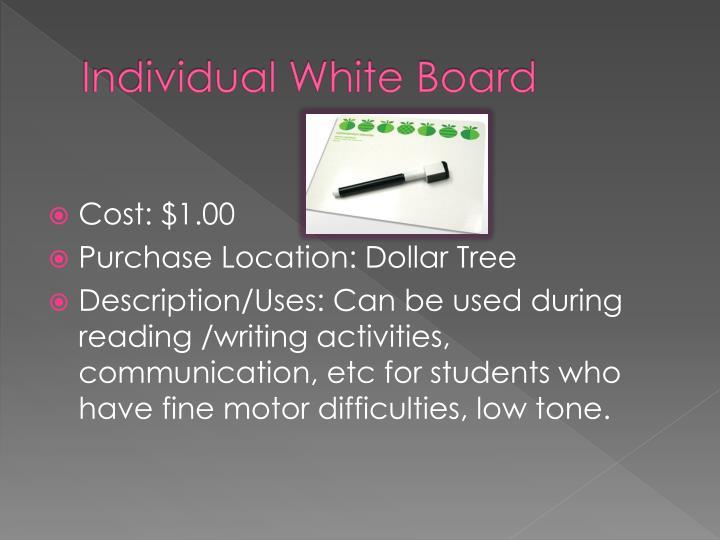 Individual White Board