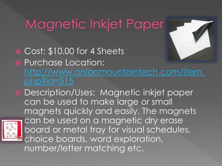 Magnetic Inkjet Paper