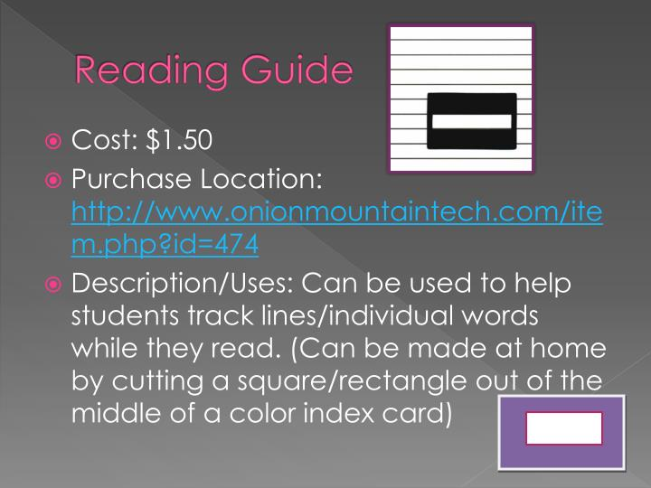 Reading Guide