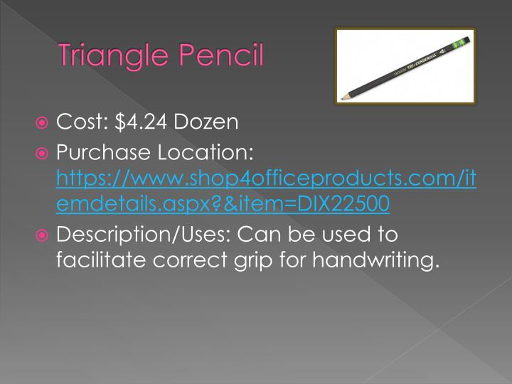 Triangle Pencil