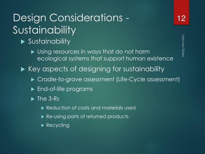 Design Considerations -