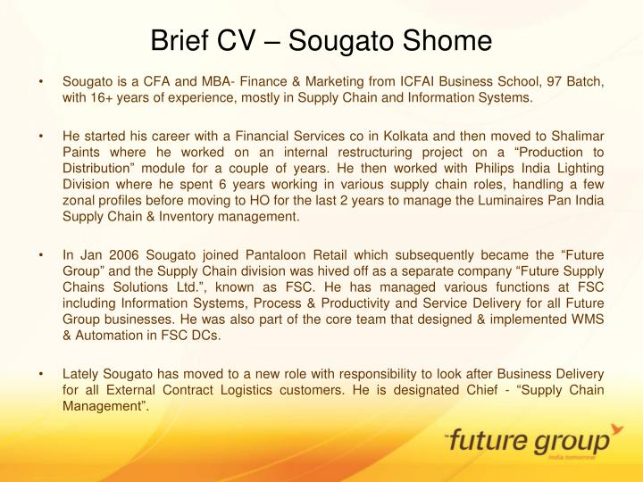 Brief cv sougato shome