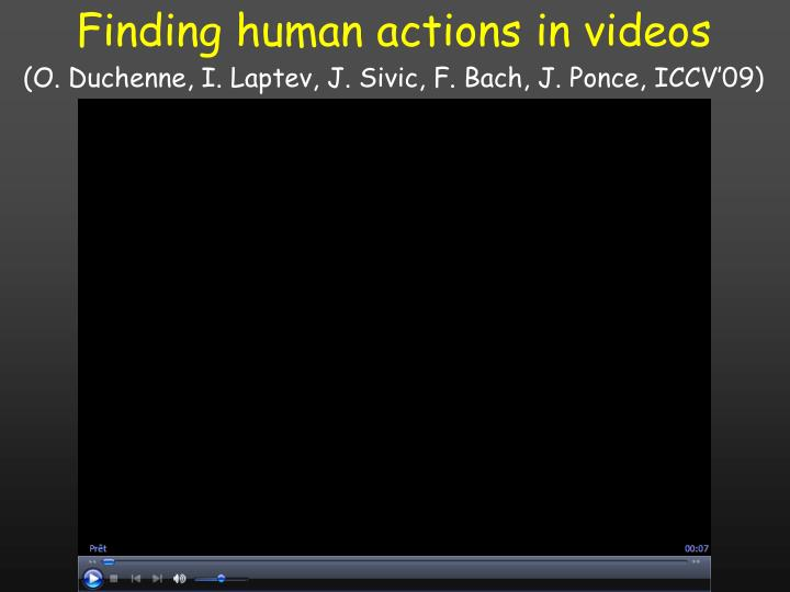 Finding human actions in videos
